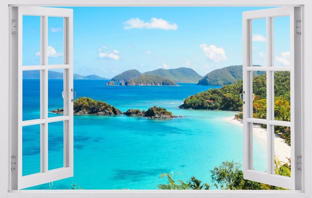 details about ocean view islands tropical wall decals on wall stickers for home id=66547