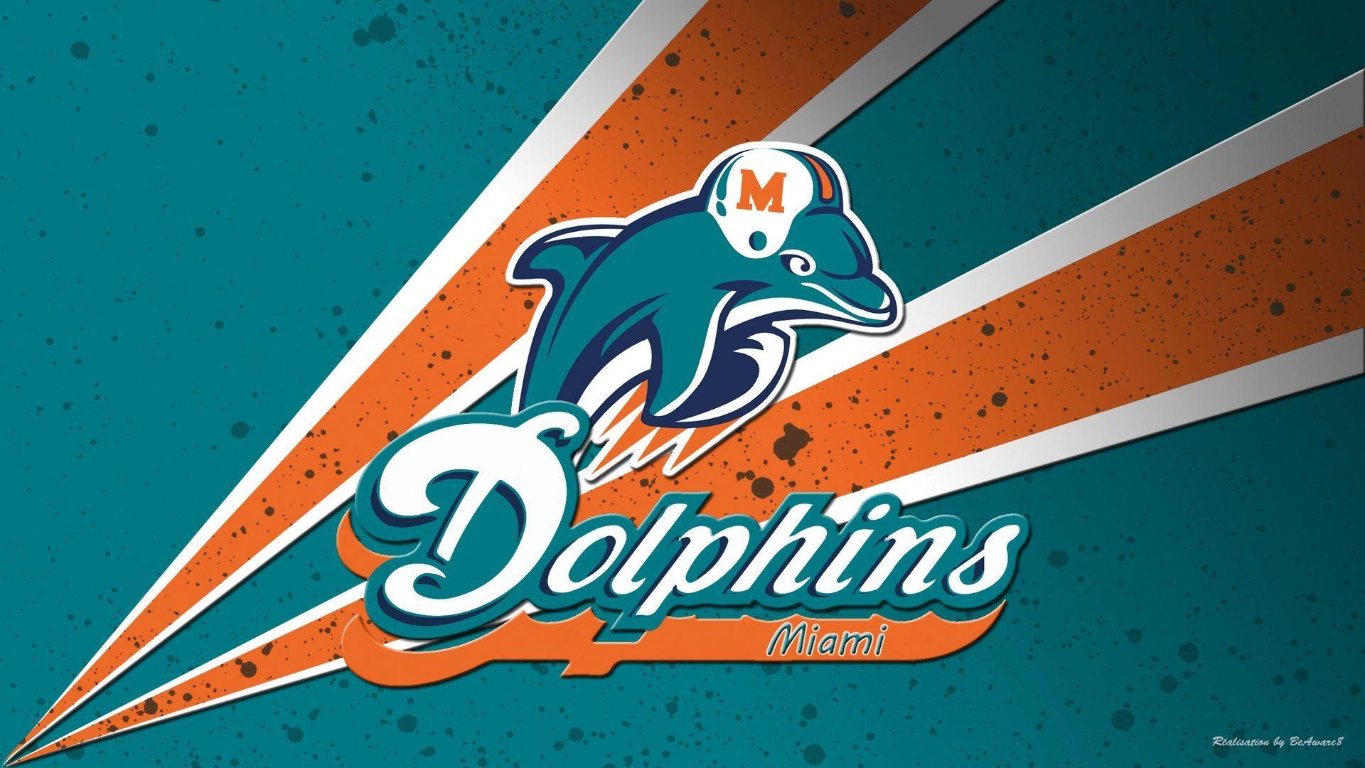 Wallpaper Desktop Miami Dolphins HD Dolphins logo, Miami
