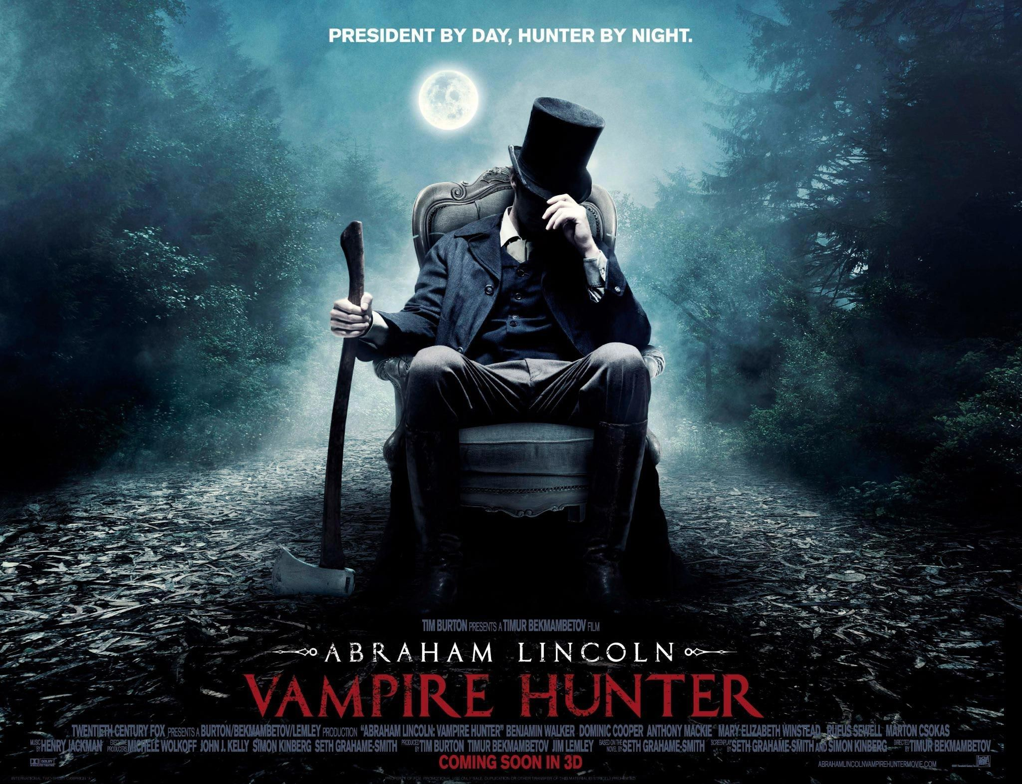 International Abraham Lincoln Vampire Hunter Trailer And Quad