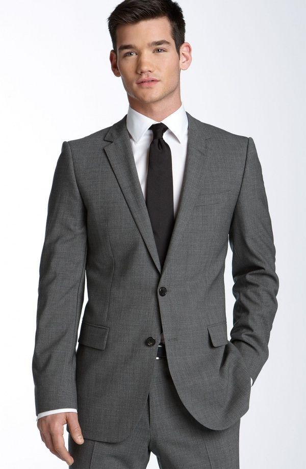 HUGO-Aikonen-Grey-Stretch-Wool-Suit-1 | Dark grey suits