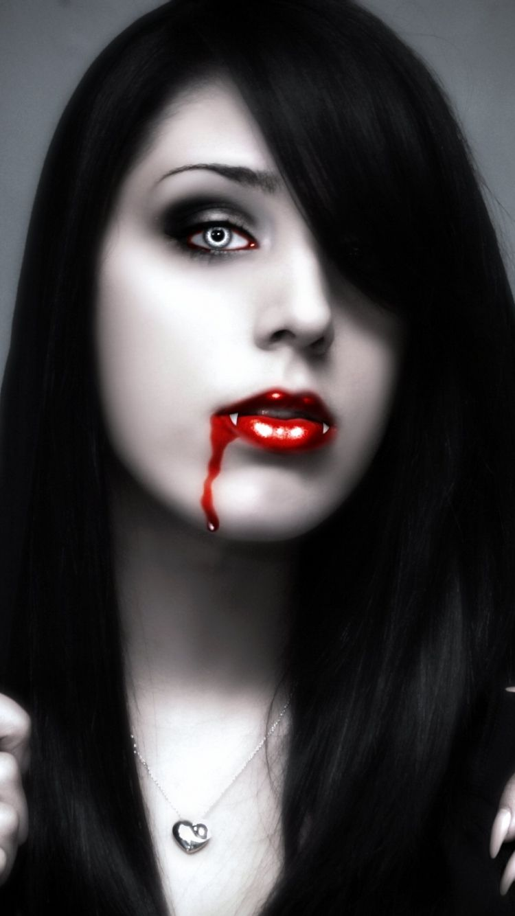 Iphone 5 Fantasy Vampire Wallpaper Id 578744 Vampire Art Vampire Girls Vampire