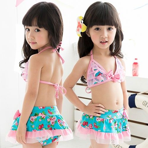 fc6eafecde ... Swimwear Girls Bikini Cute Kids Swimsuits Lovely New Baby Lace Girl  Cocuk Mayo. Children Swimsuit Bikini Triangle Bra Mini Skirt Swimming Cap -  Kids ...