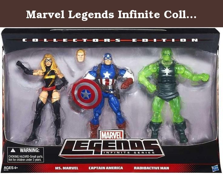 Marvel Legends Infinite Collectors Edition Ms. Marvel. Captain America & Radioactive Man by HASBO. Details coming soon.