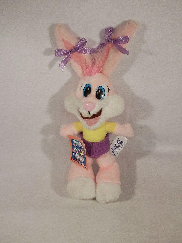1990 Tiny Toons Babs Pink Bunny Rabbit 14 Plush Toy Ace Bugs Porky Elmer Fudd Plush Toy Bunny Rabbit Elmer Fudd