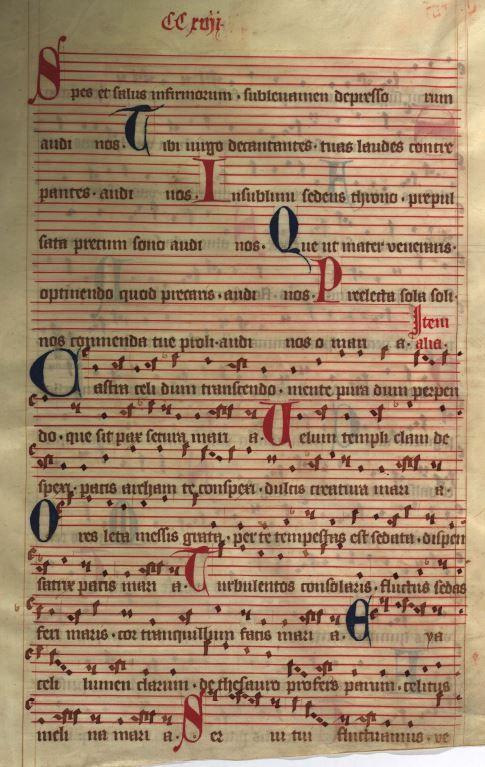 Moosburger Graduale um 1360 Moosburg Cim. 100 (= 2° Cod. ms. 156)  Folio 433