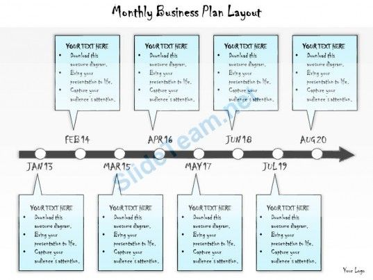 Business Ppt Diagram Monthly Business Plan Layout Powerpoint