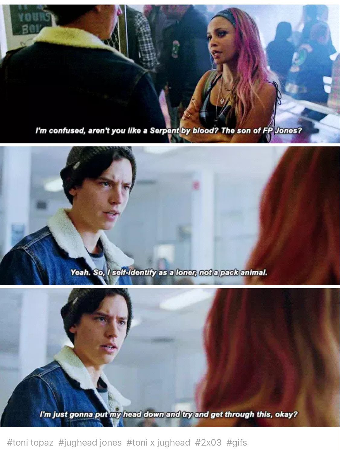 Riverdale 2x03 Chapter Sixteen The Watcher In The Woods Riverdale Funny Bughead Riverdale Riverdale Cast