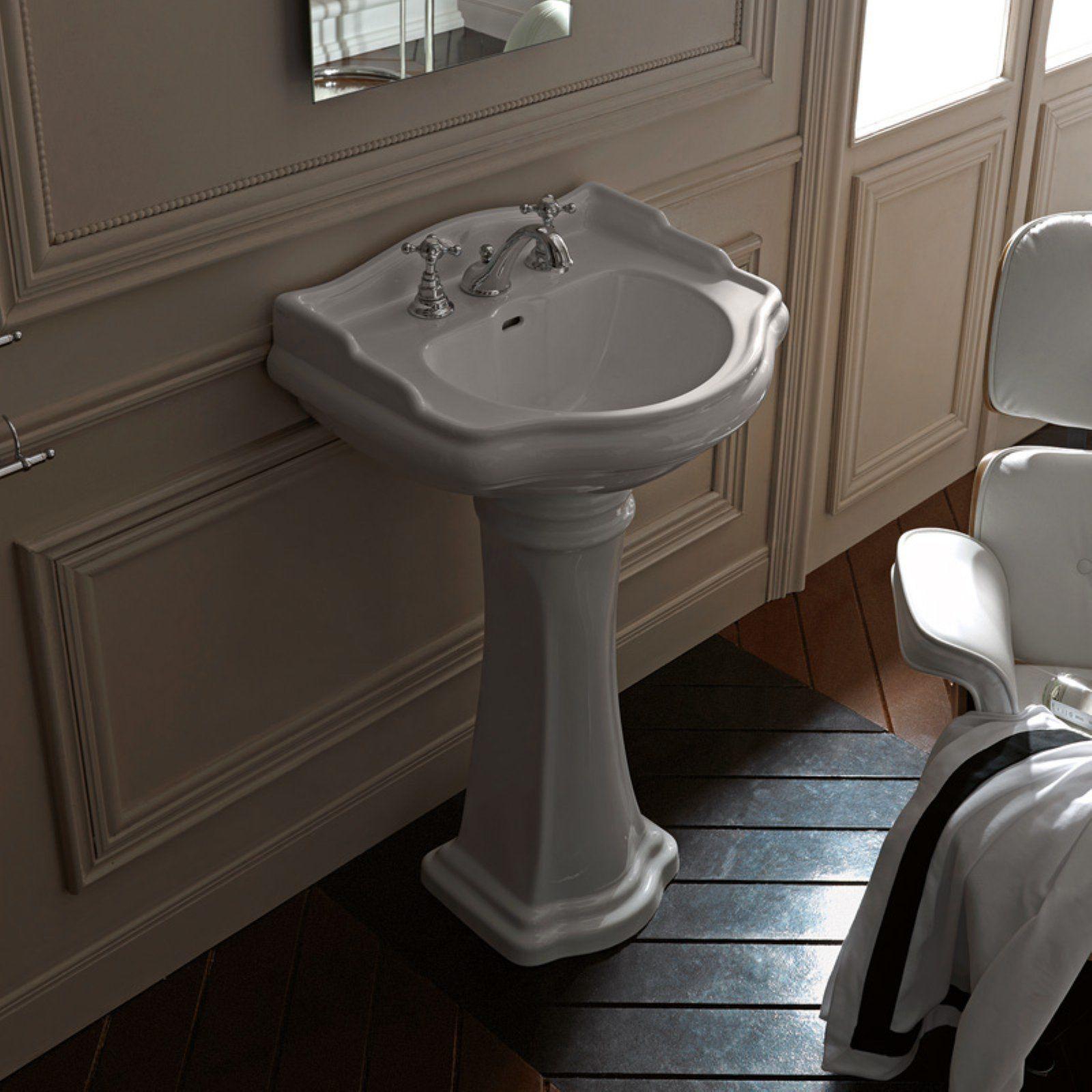 Ws Bath Collections Retro 1047 1070 Bathroom Pedestal Sink Ws Bath Collections Pedestal Sink Ceramic Bathroom Sink