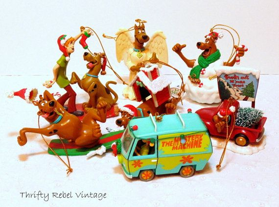 Lot of 7 Scooby Doo Christmas Ornaments - Lot Of 7 Scooby Doo Christmas Ornaments Collecting SCOOBY-DOO