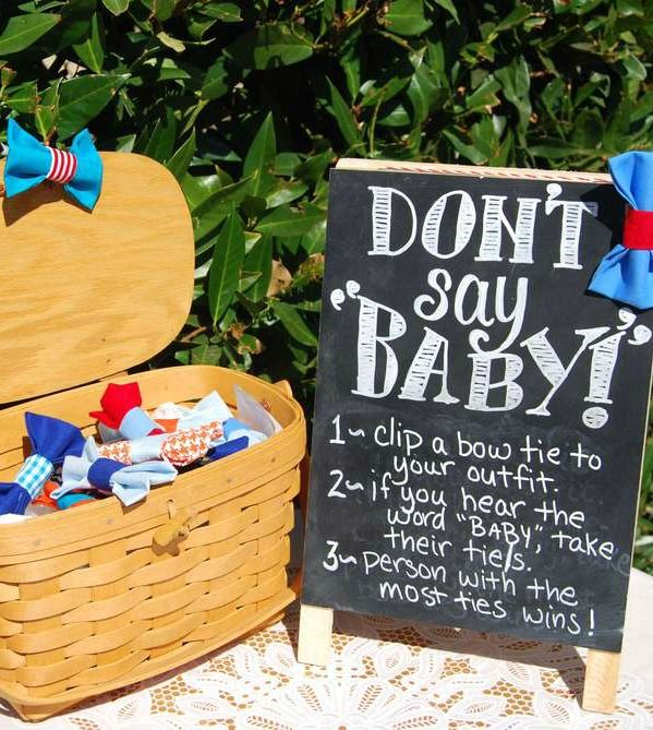 Bow Tie Little Man Baby Shower Party Game See More Party