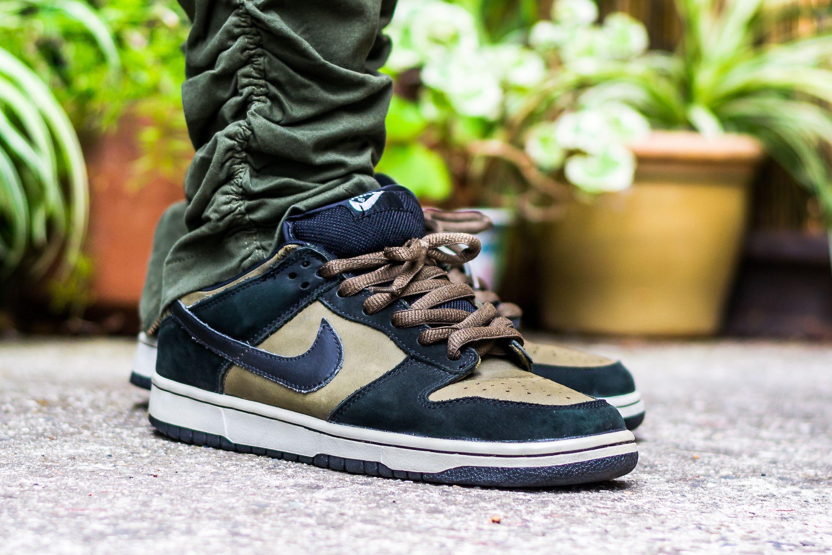 Nike Dunk Low SB Loden On Feet Sneaker