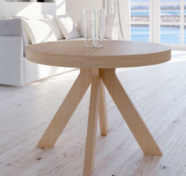 Mesa redonda extensible de comedor haz mesa extensible for Mesas de cocina redondas extensibles