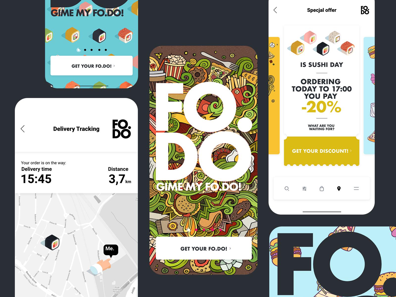 FO.DO food delivery app Food delivery app, Delivery app