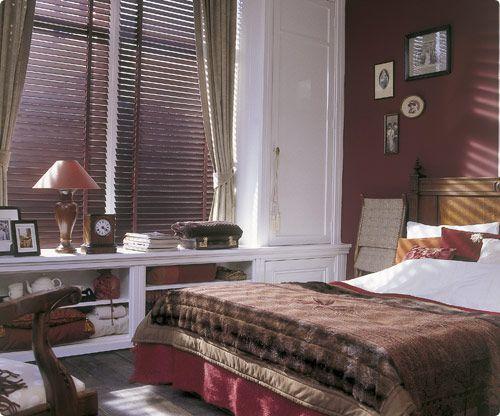 Merveilleux Bedroom Wooden Blinds