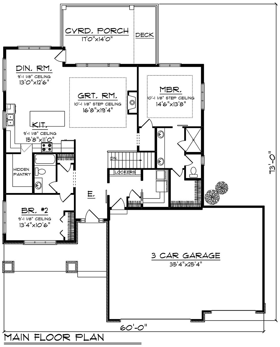 2 Bedroom House Plans With Garage in 2020 Garage house