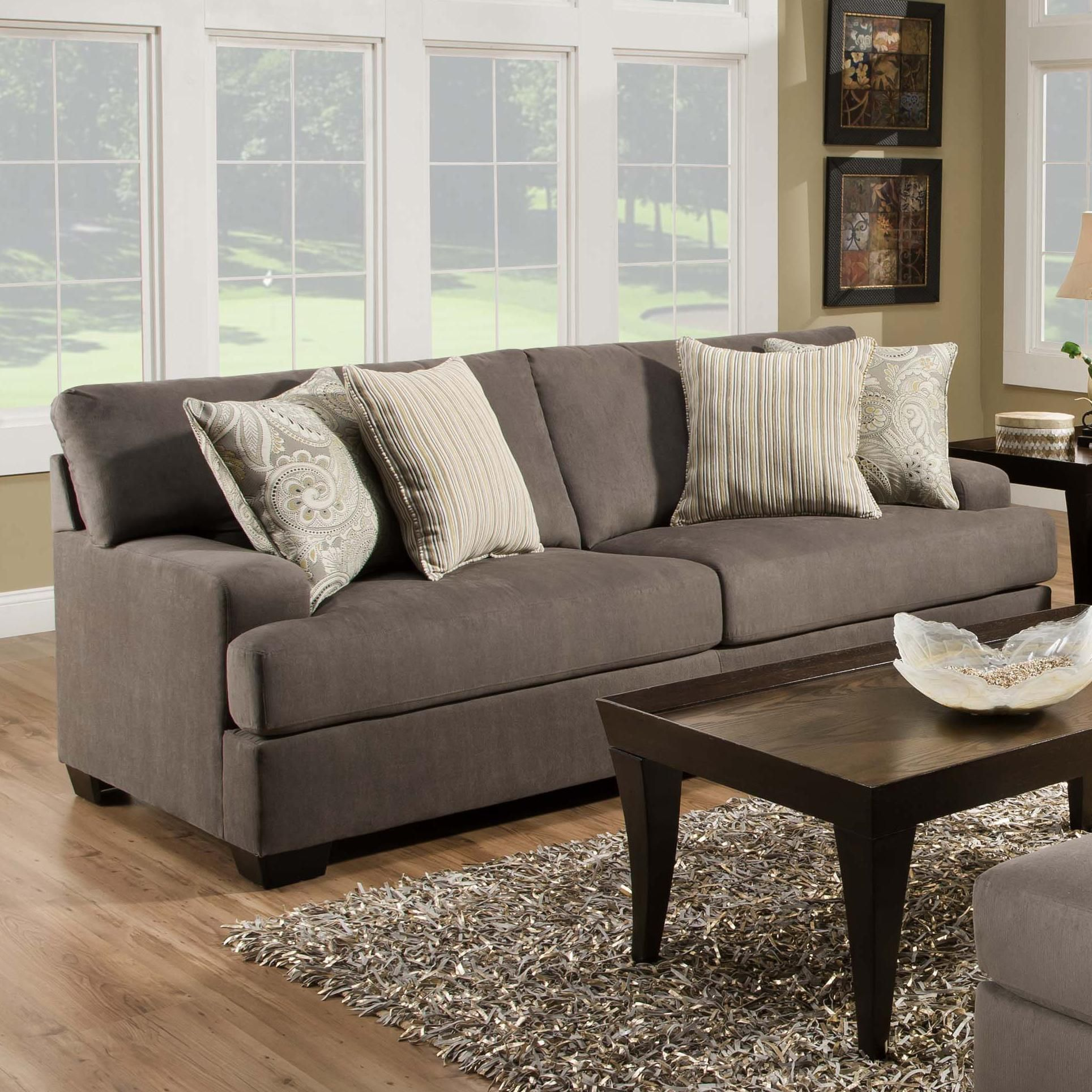 5920 transitional stationary sofa by united furniture industries