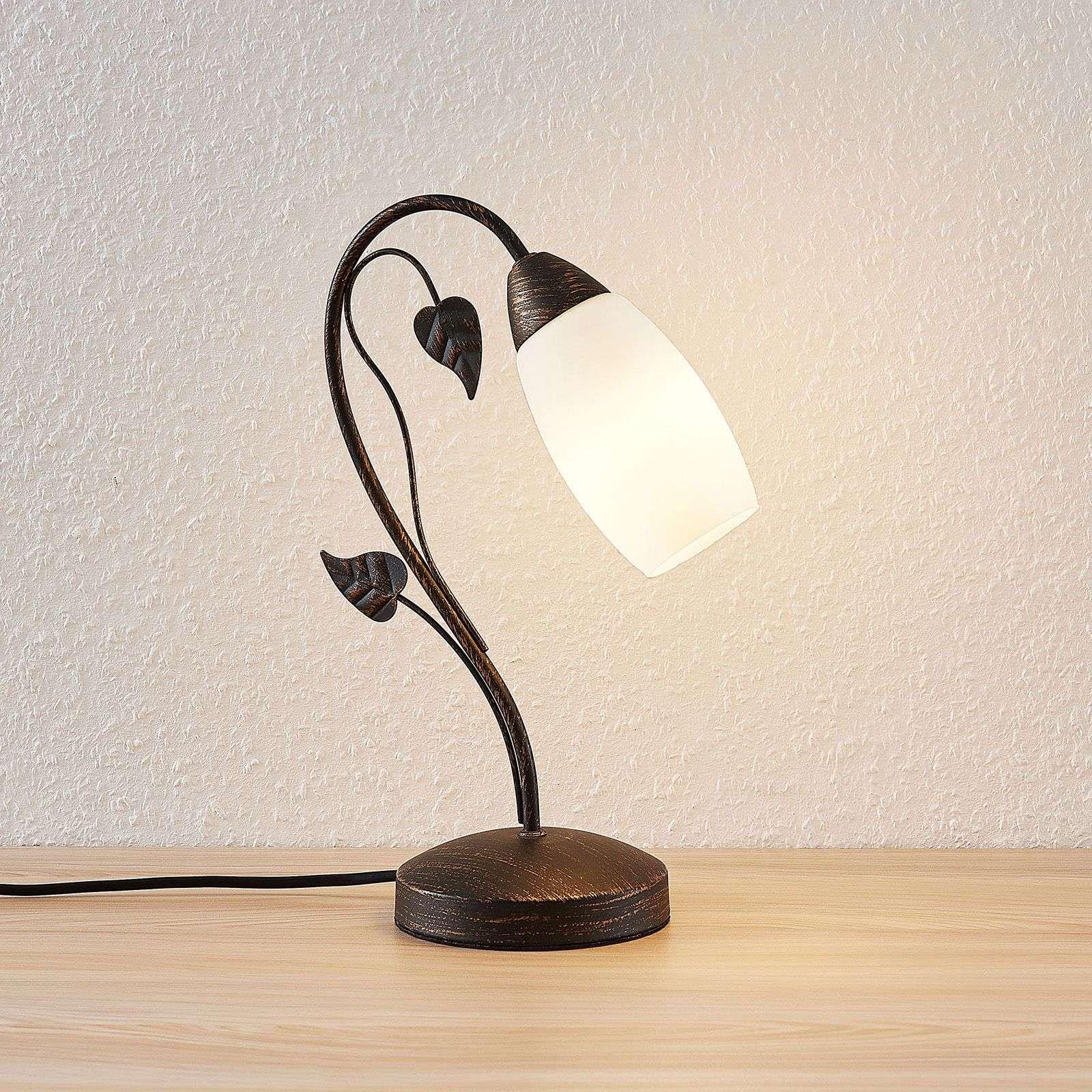 Lindby Isalie Lampe A Poser Led In 2020 Tafellamp Glazen Tafellampen Led