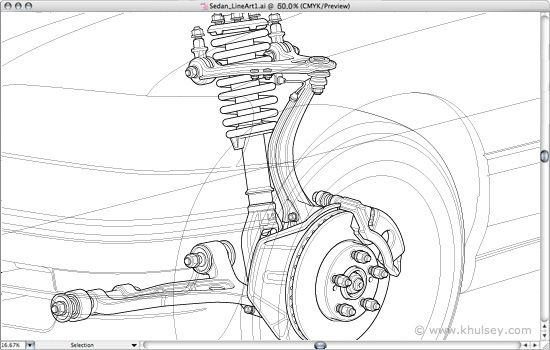 Automotive illustration tutorial: How to draw a car