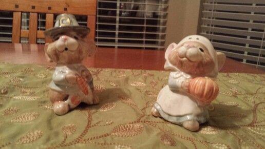 Fitz and Floyd mice pilgrims salt and pepper