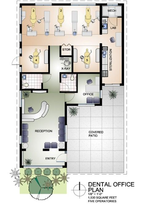 Small dental office design dental office design floor plans home office consultas - Modern home office floor plans for a comfortable home office ...