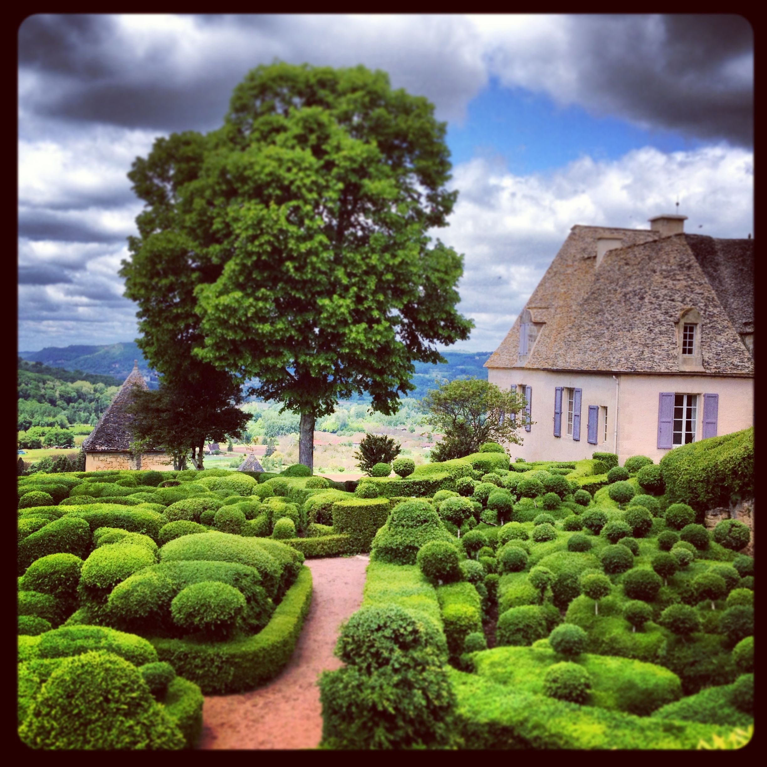 Jardins de Marquessac - a great example of cloud pruning. The gardens were created in the 19th century and then lost until they were restored in 1997.