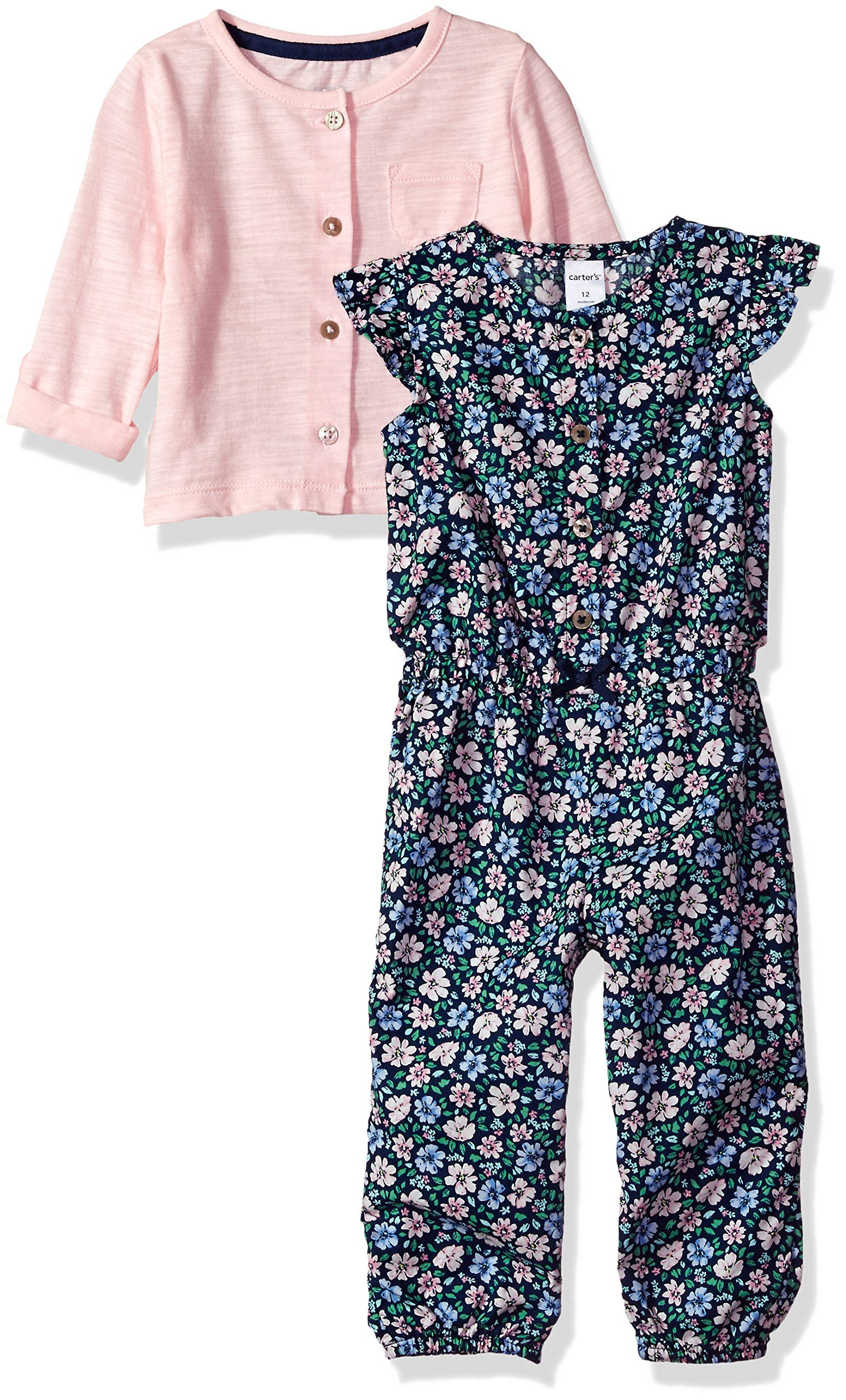 Carters 2 Piece Romper Set Floral 12 Months     Find out more at the  picture web link. (This is an affiliate link).  babygirlclothing 05d4f8a1118
