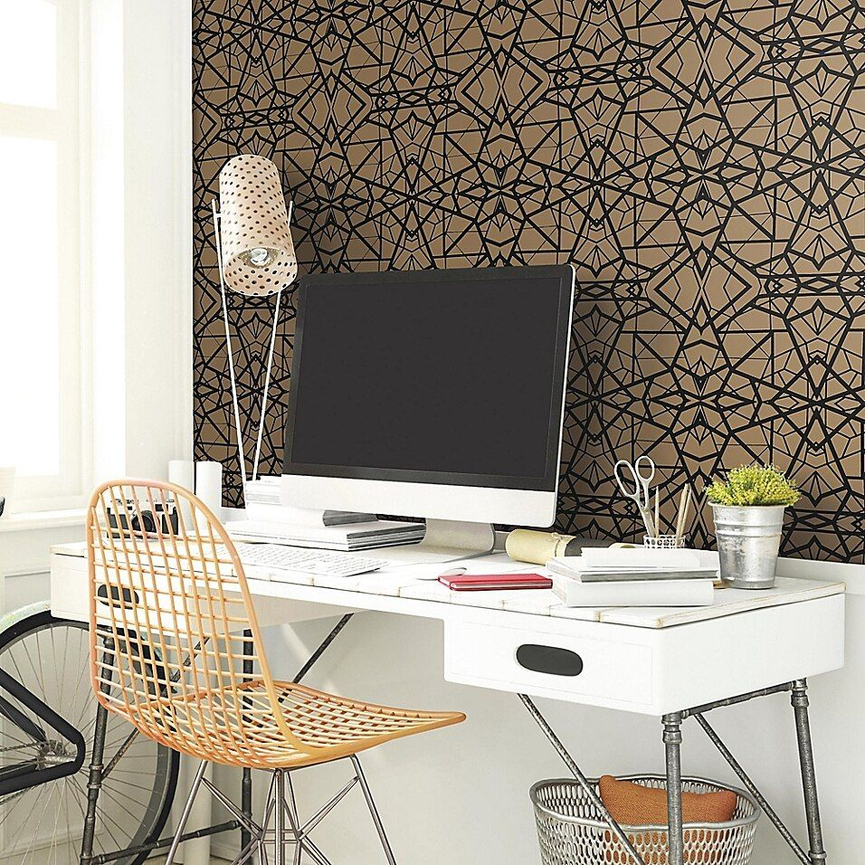 Roommates Shatter Geometric Peel And Stick Wallpaper Bed Bath Beyond Roommate Decor Room Visualizer Peel And Stick Wallpaper