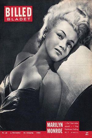 1952 November issue: Billed Bladet Danish magazine cover, Marilyn Monroe  .... #marilynmonroe #normajeane #magazinecovers #raremagazine #vintagemagazine #pinup #iconic #1952 #billedbladet