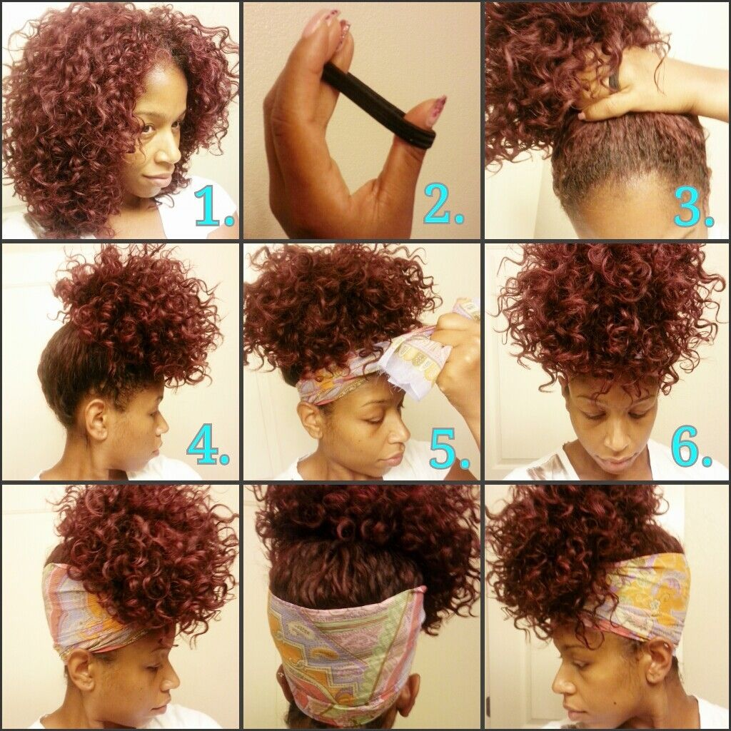 Pineapple Method Put Hair Like This While Sleeping To Preserve Wash And Go Styles Curly Hair Styles Hair Styles Natural Hair Styles