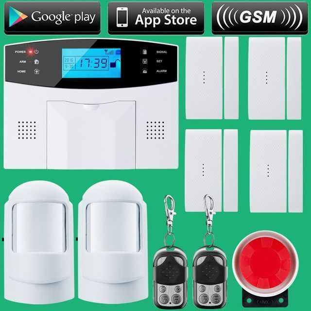 Wireless Sms Home Gsm Alarm System House Intelligent Diy Burglar Security Alarms Pinterest