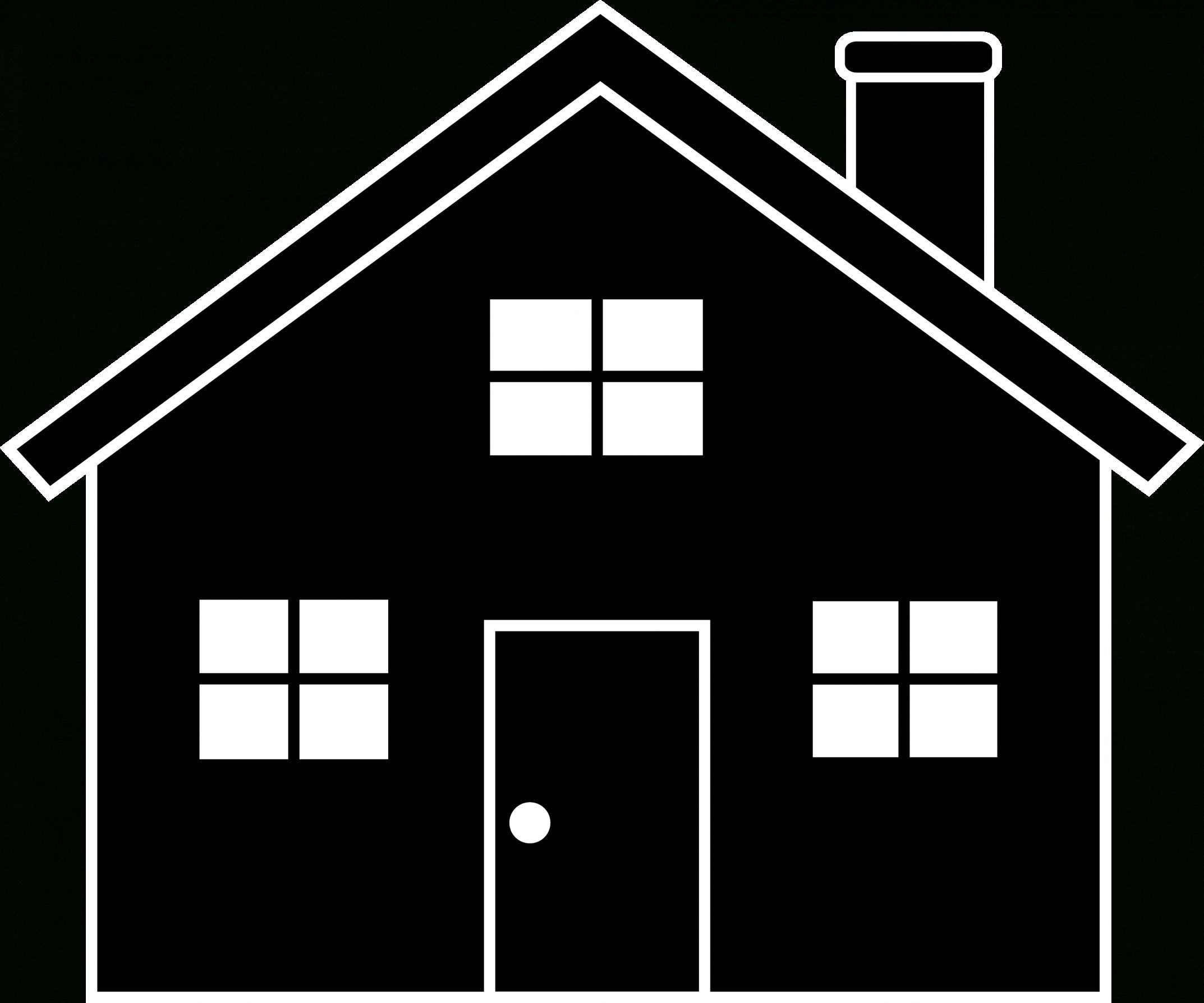 12+ Cute House Black And White Icon Png Icon Cute
