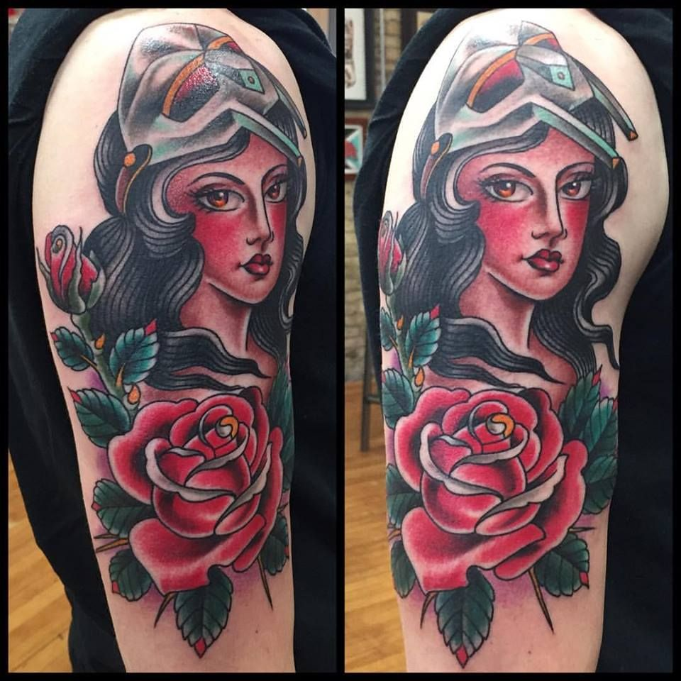 Traditional Female Wearing MF DOOM Mask by Josh Howard at