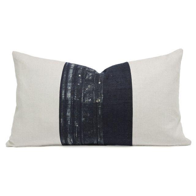 Image of Indigo Batik Hmong Lumbar Pillow