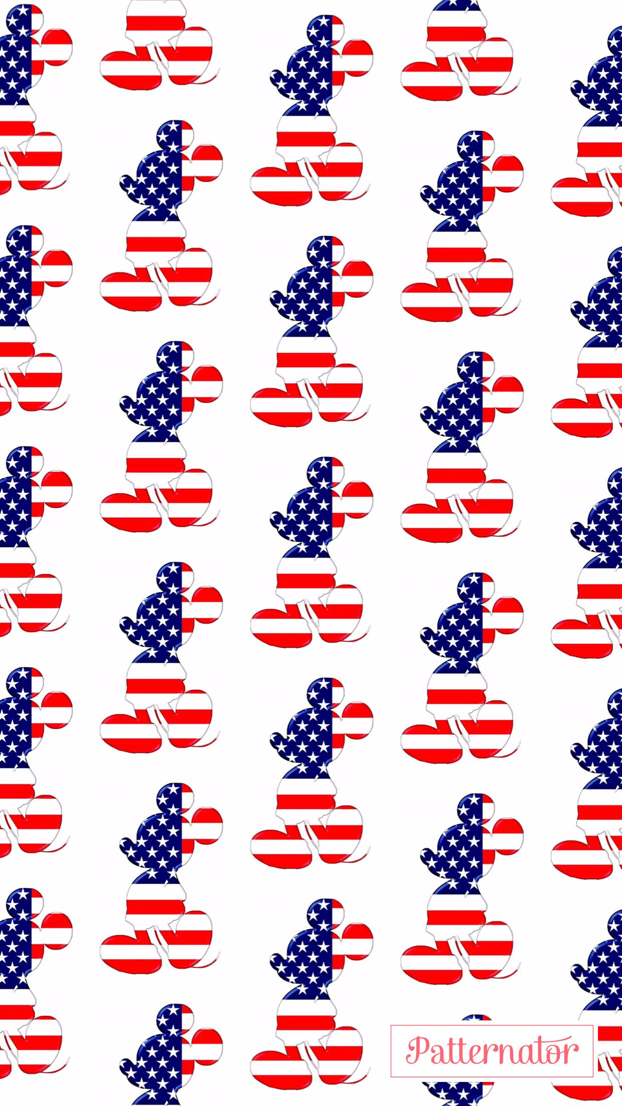 iPhone Wallpaper 4th of July Mickey Mouse