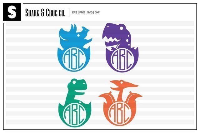 Download Free SVG Files | SVG, PNG, DXF, EPS | Dinosaur Monogram ...