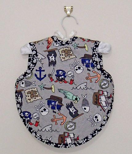 Pirate Bapron  Size 6-18 Months by 4CheekyLittleMonkeys on Etsy