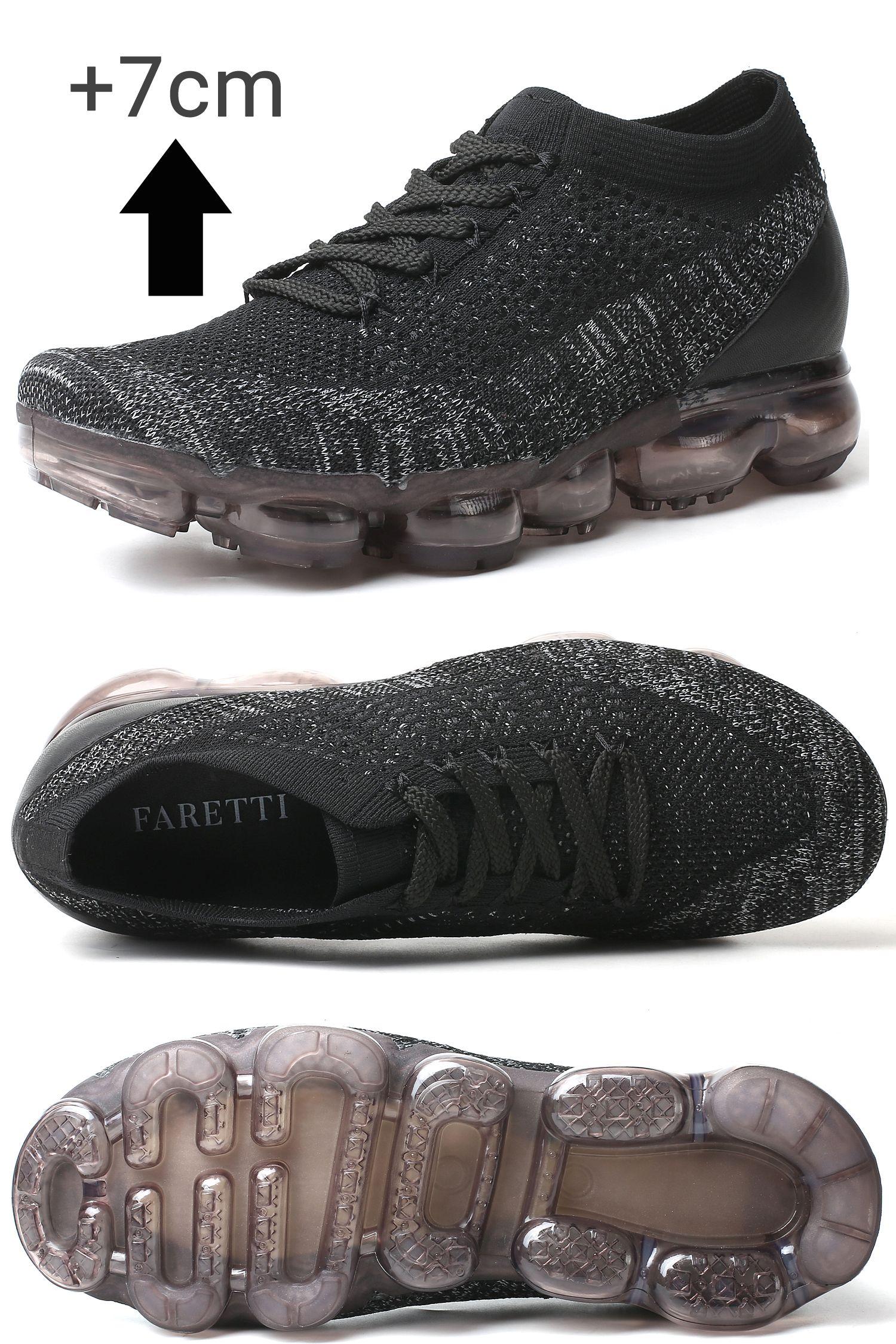 Sportowe Buty Podwyzszajace Meskie Ageno 7cm Wiecej Do Wzrostu All Black Sneakers Black Sneaker Shoes