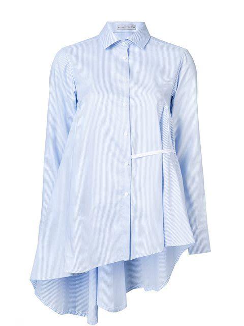 Palmer / Harding striped asymmetric shirt in Forty Five Ten