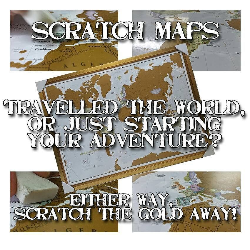 Scratch maps are back in stock at ZanArt Kettering! Order in store ...