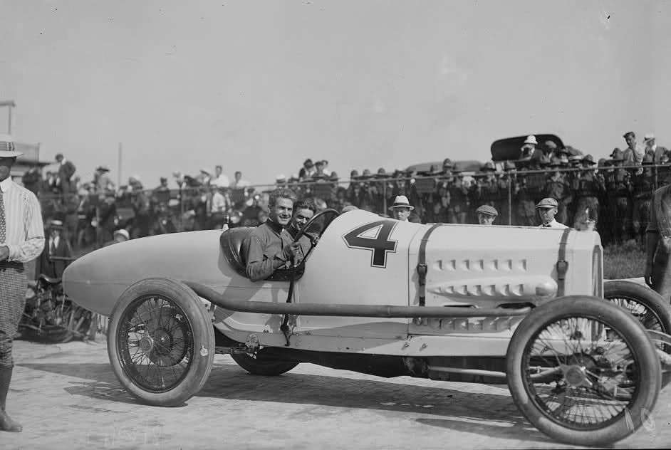 Ralph DePalma and his mechanic in their Packard 299 OCH Liberty at ...