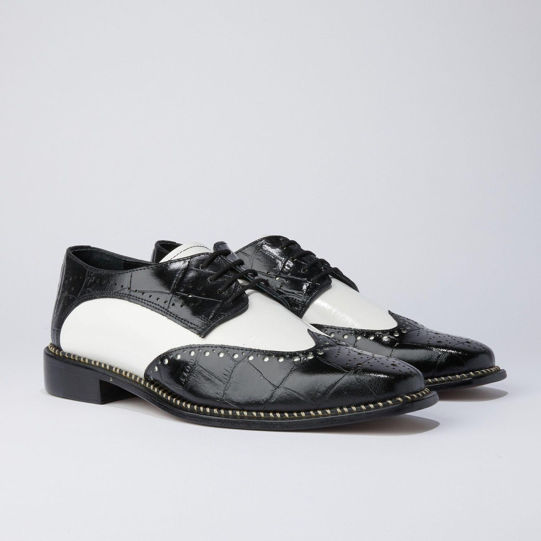 Boyka Dress Shoes // Black + White in