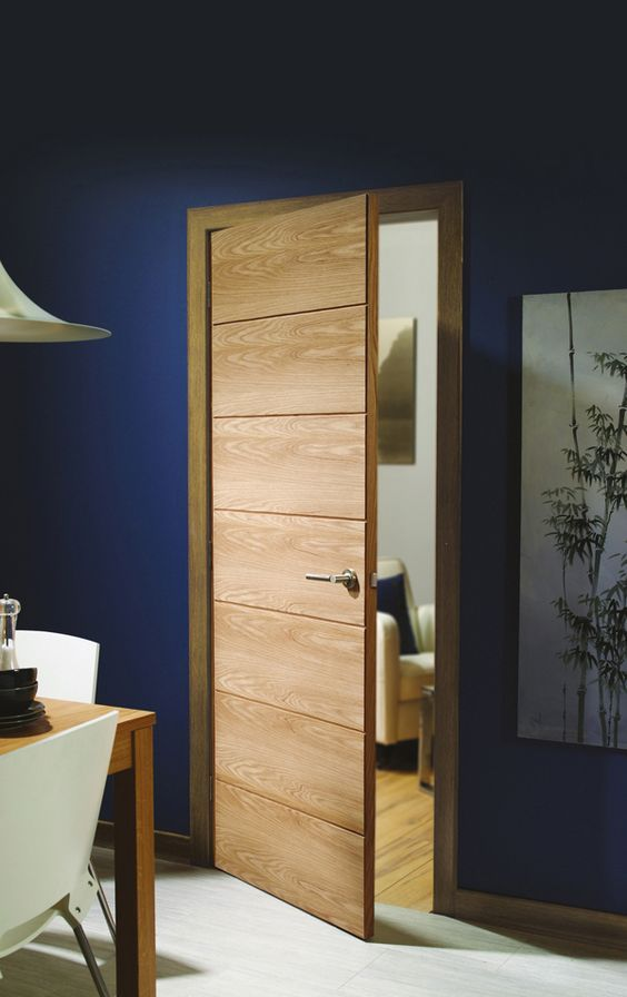 20 Best Modern Door Designs From Wood: The Savona Internal Oak Door Is A Modern 7 Panelled
