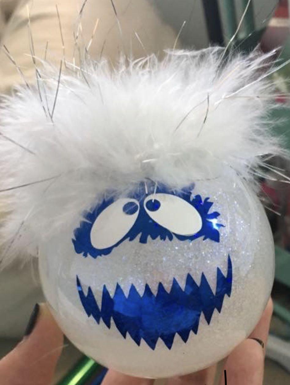 Abominable Snowman Diy Christmas Ornaments Easy Snowman Crafts Diy Christmas Glitter Ornaments