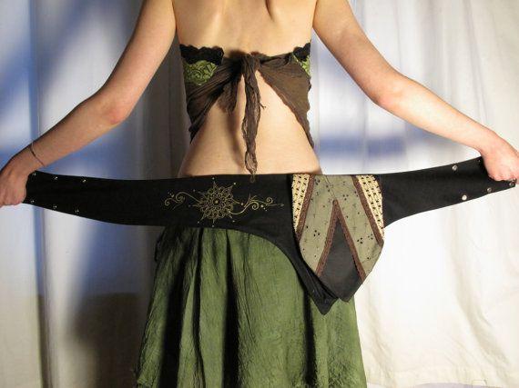 Utility belt. Hip bag. Pixie hip bag. Mandala by AbstractikaCrafts, £29.00