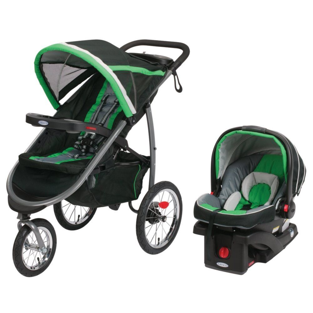 Graco Fastaction Jogger Stroller Car Seat Travel System Folding Baby ...