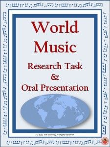 Music Around tbe World Project and Presentation | music education