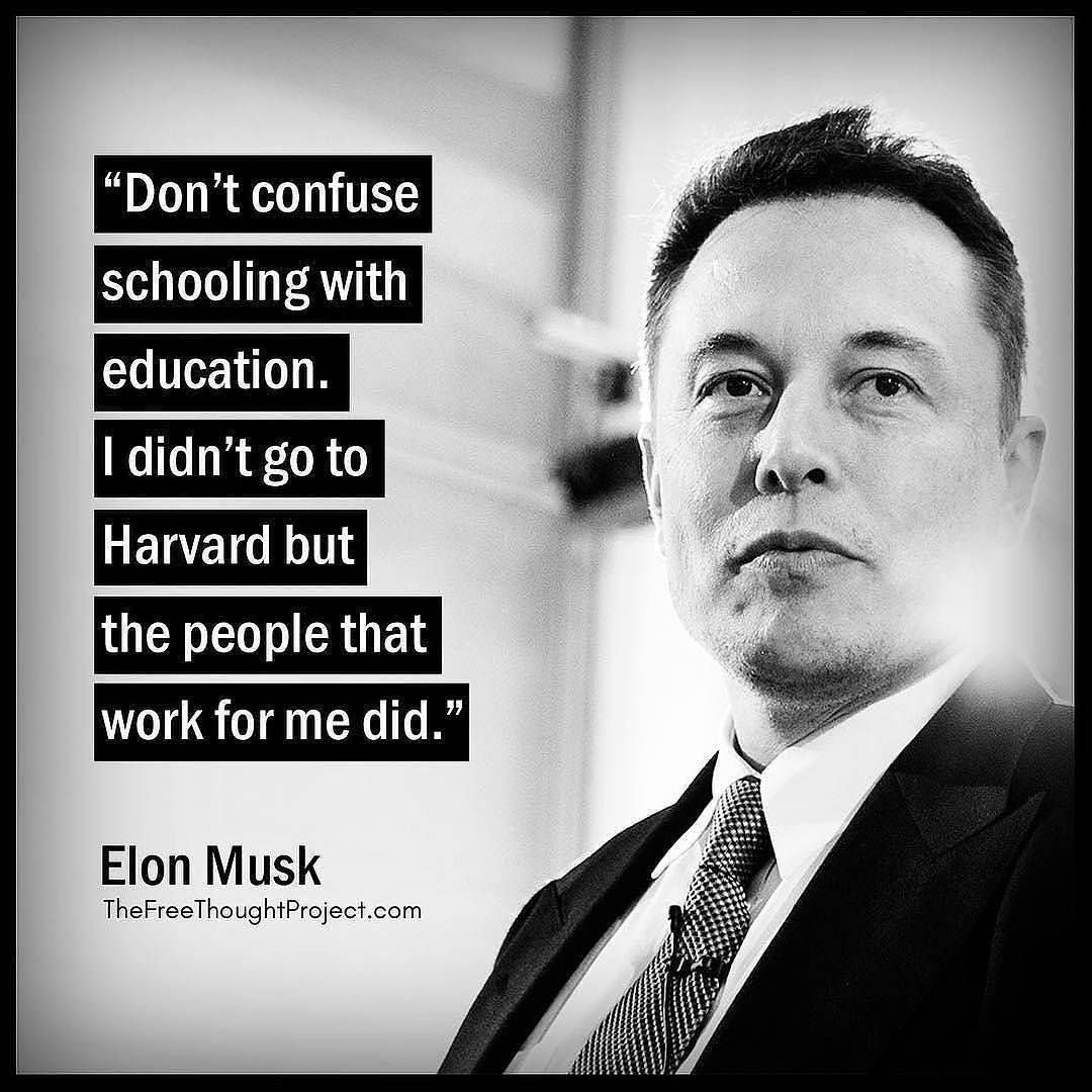 Motivational Quotes Success Track V Instagram Funny Fact Though About Education Comment If Elon Musk Quotes Motivational Quotes Study Motivation Quotes