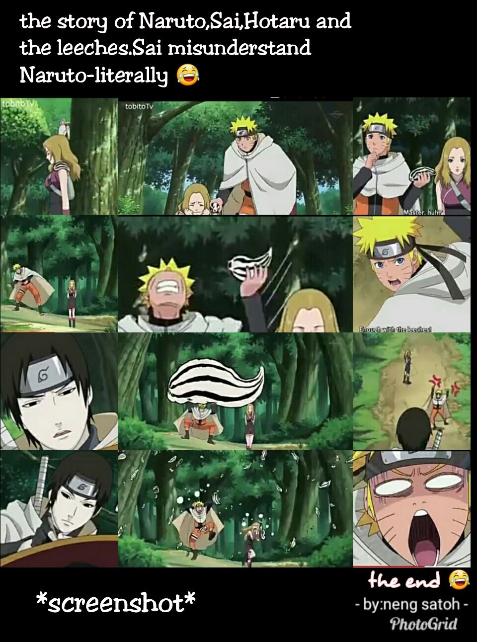 Screenshot.one of the funny episode at Naruto Shippuden