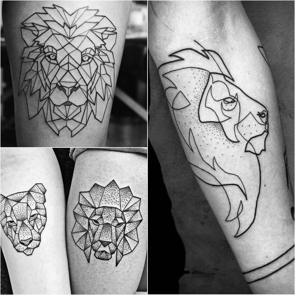 Lion Tattoo Meaning Lion Tattoo Ideas For Men And Women With Photos Geometric Lion Tattoo Lion Tattoo Meaning Geometric Tattoo
