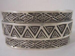Spiral Triangles - Men's Sterling Bracelet